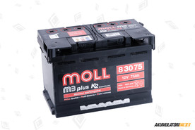 MOLL 75Ah M3 plus K2 double lid