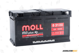 MOLL 100Ah M3 plus K2 double lid
