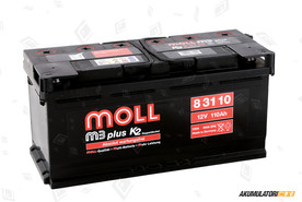 MOLL 110Ah M3 plus K2 double lid
