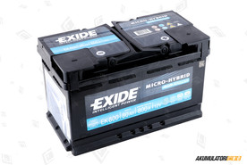 EXIDE 80Ah Start-Stop AGM